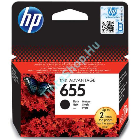 HP CZ109AE (No.655) BK fekete (BK-Black) eredeti (gyári, új) tintapatron