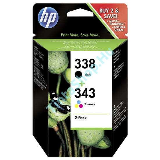 HP SD449EE (No.338-No.343) BK-C (Black-Color) eredeti (gyári, új) multipack