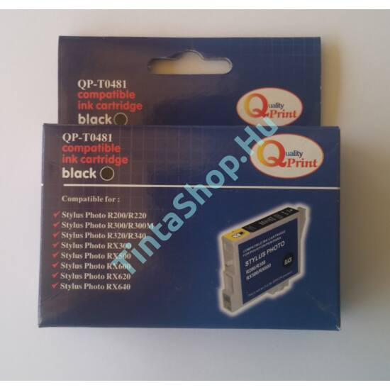 Epson T0481 BK Fekete (BK-Black) kompatibilis (utángyártott) tintapatron (lejárt)
