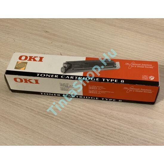 !AKCIÓS! OKI Type 8 BK fekete (BK-Black) eredeti (gyári, új) toner